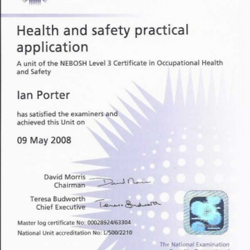 Health and Safety Practical Application